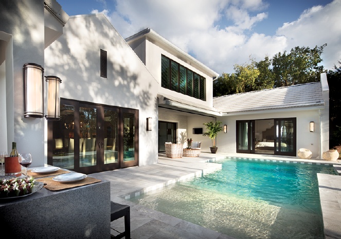 Rear of The New American Remodeled Home 2017 with pool