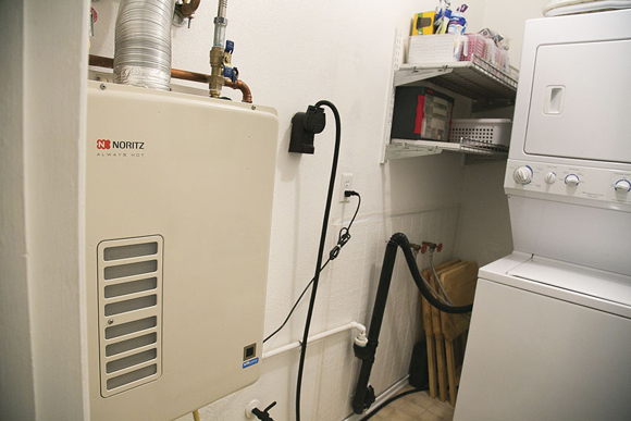 Tankless Water Heater An Easy Fit In A Residential Laundry