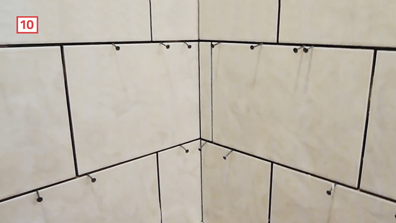 plan the corner cuts during your shower tile install