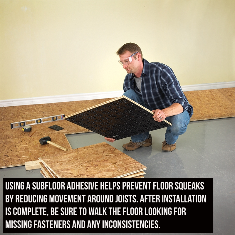 installing a subfloor