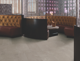 Tile sizes in Crossville's Empire porcelain tile line run the gamut from large format—like the tile shown here—to small mosaics.