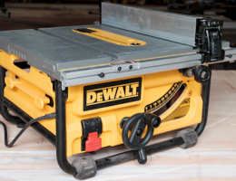 The DeWalt Compact Jobsite Table Saw is a good choice for pros seeking a portable table saw
