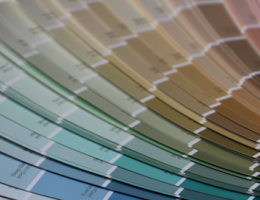 PPG fan deck for selecting exterior home colors