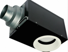 The Panasonic WhisperRecessed LED Light Fan is Energy Star–certified and has a recessed LED light.