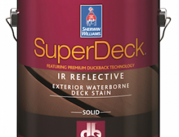 Sherwin-Williams SuperDeck is a complete deck-care finishing system.