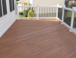 finished deck using admiral spacemaker outdoor flooring