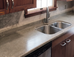 remodeler made a concrete countertop on his first try