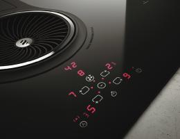 touch controls for elica's nikola tesla cooktop