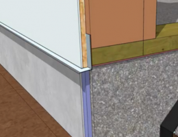 Use Z-flashing above the insulation to keep water out.