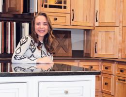 kristin whalen is a kitchen and bath designer with boilard lumber