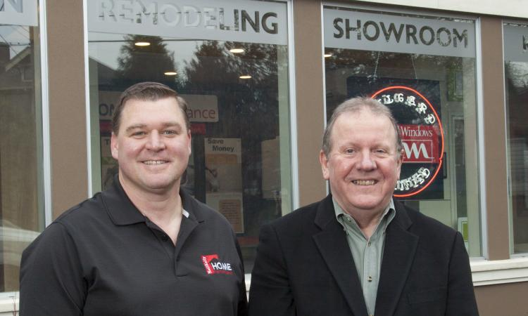 From left: Chad Ruhoff, manager of Home Performance, and Tom Kelly, president of