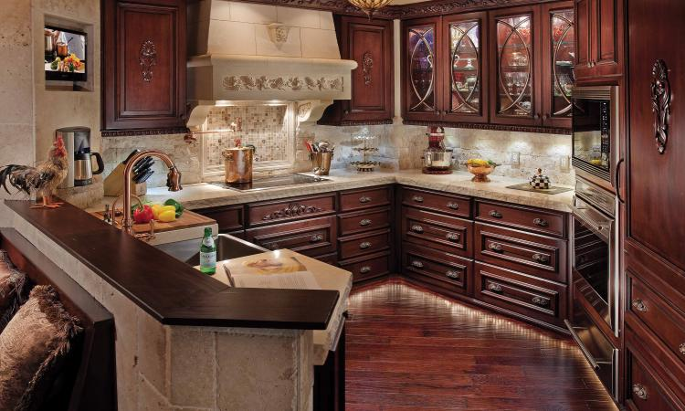 Cabinets have various shelf and drawer configurations that affect the amount of