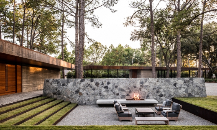 This project won the ASLA 2015 Professional Award of Excellence, Residential Design Category. Cedar Creek by Hocker Design Group.