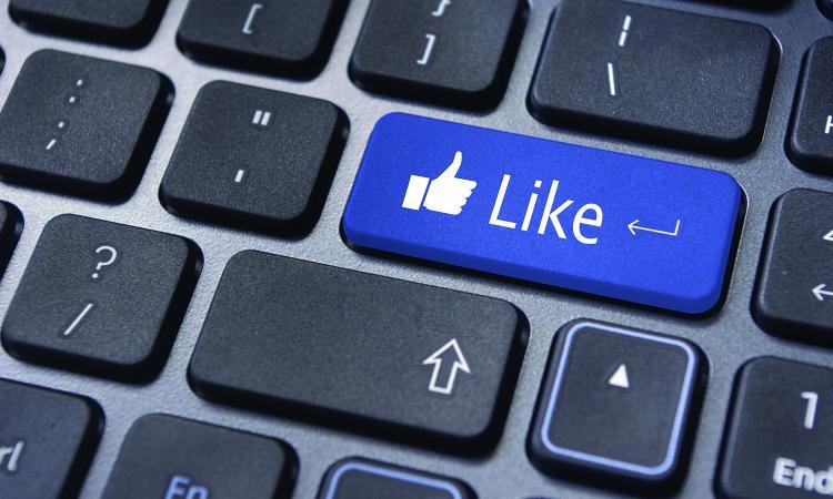 like button facebook update