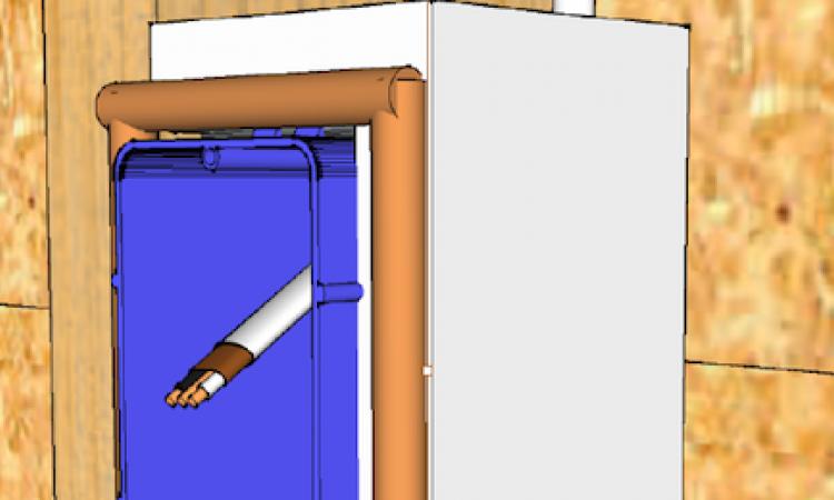 Airtight drywall, electrical box detail