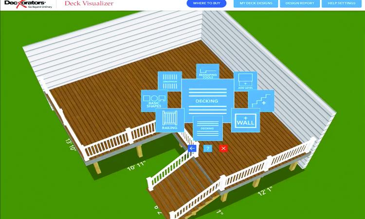 Deckorators Deck Visualizer is a tool for professional remodelers