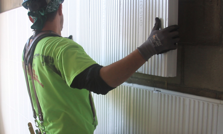InSoFast insulated panels being installed. Photo: courtesy InSoFast