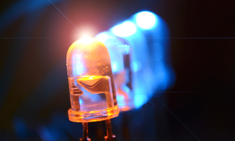 LED lights close up