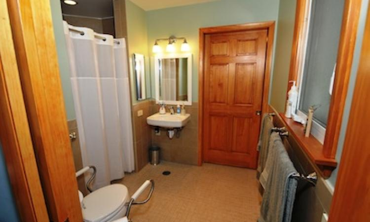 Remodeled bathroom for disabled family