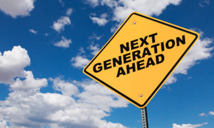 "Road sign reads ""Next Generation ahead."""