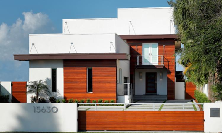 2015 Design Awards, front facade, Florida beach house, Deslandes Contracting with Roney Design Group