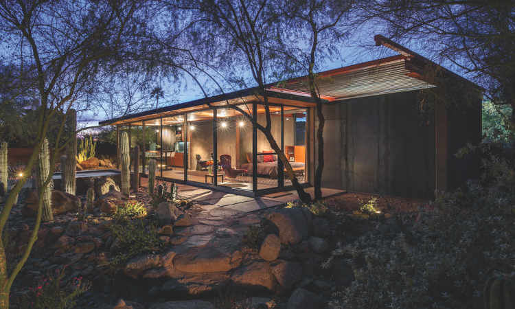 Andy Byrnes, architect and president of design/build firm The Construction Zone, in Phoenix, converted a barn into a stunning guest house.