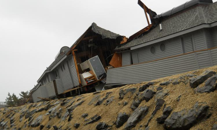 In the coastal town of Sea Bright, N.J., Hurricane Sandy tore buildings apart an