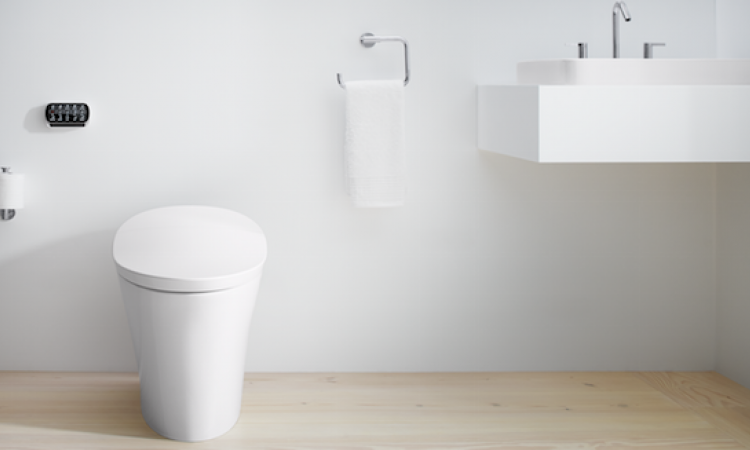 The Kohler Veil toilet offers some high-tech luxury features