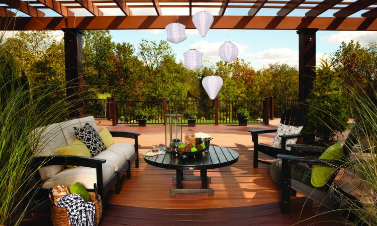 Decking companies such as Trex are becoming more outdoor-living focused by provi
