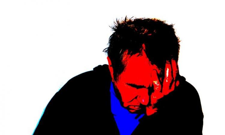 image of despairing man