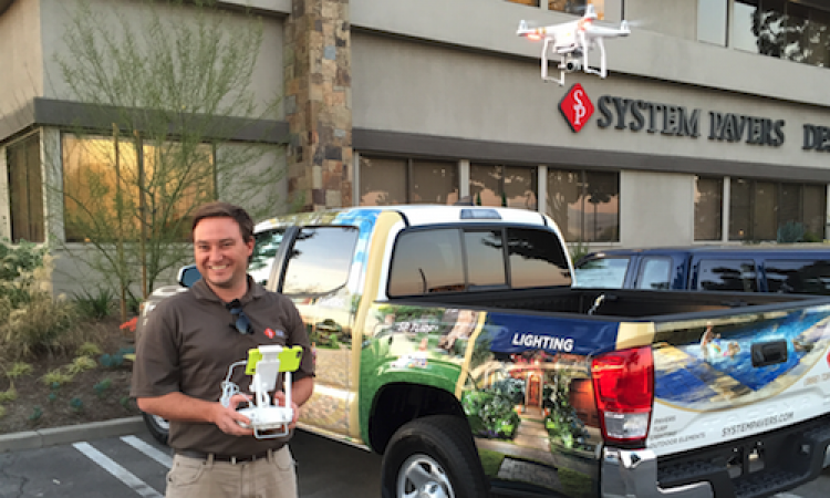 Some home improvement contractors, such as System Pavers, are now using drones