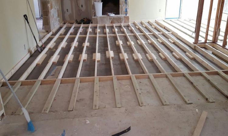 Raising a sunken living-room floor