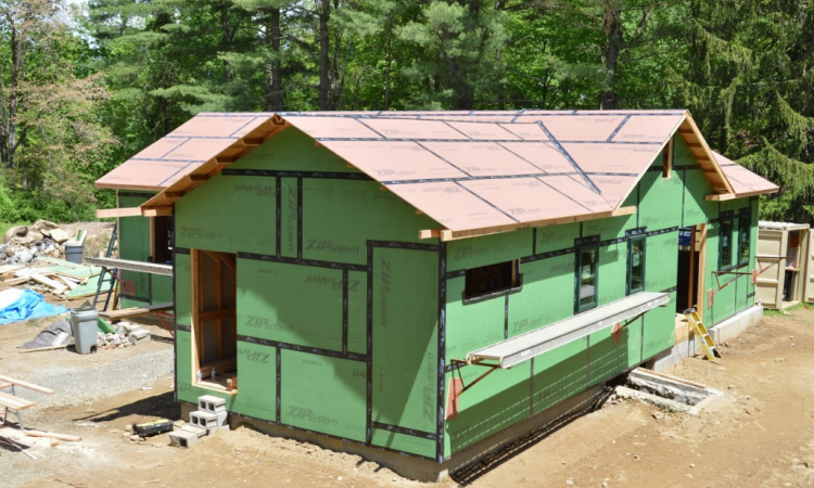 model remodel project with insulation