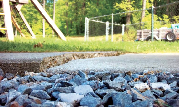raising a concrete slab by injecting high-density foam under it