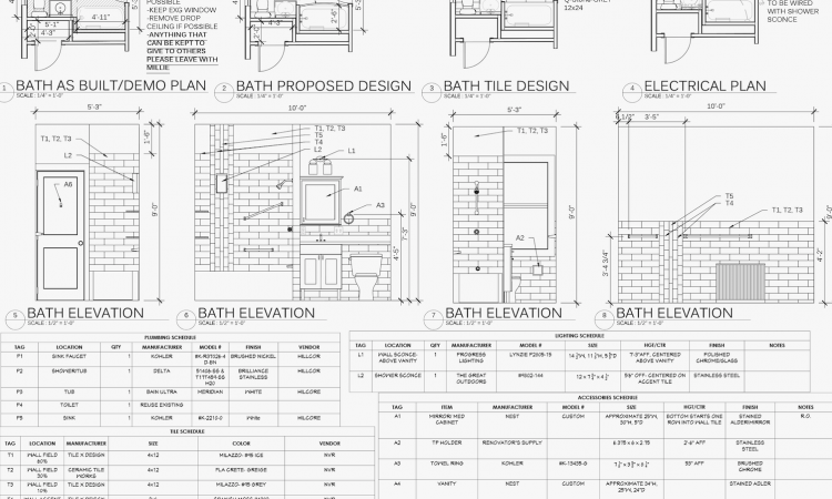 example of specifications for a remodeling project by otagawa anschel designbuild