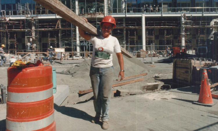 female worker on construction jobsite