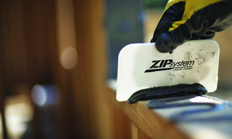 liquid zip system flashing ensures air- and waterproofing