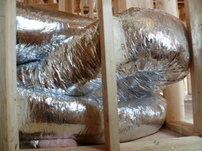 Crimped flexible ducts