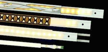 The LIT modular lighting strip system from Keeler provides illuminated decorative trim.