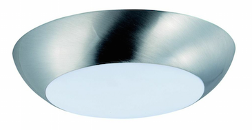 Achieve a low-profile recessed can look with this LED flush-mount light from Maxim.