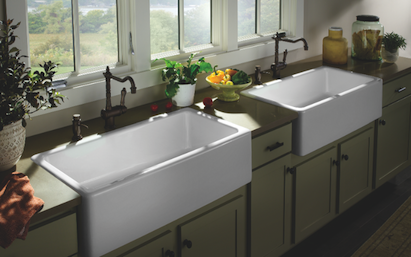 Porcher London Farm Sinks Collection, fire-clay sinks, 101 Best New Products