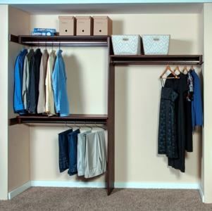 WoodTracu0027s New Reach In Wood Closets Are Made From The Same Materials And  Finishes As Its Full Size, Walk In Closet Line And Are Meant As An Upgrade  To Wire ...