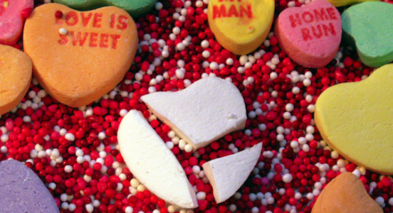broken heart candy represents Mike Damora breaking up with Angie's list lead generation