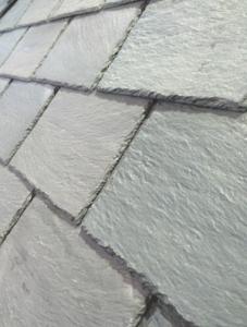 Ply Gem engineered slate roof close-up photo.