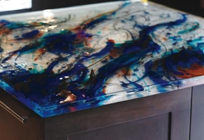 Merveilleux ThinkGlass Artistic Glass Countertops